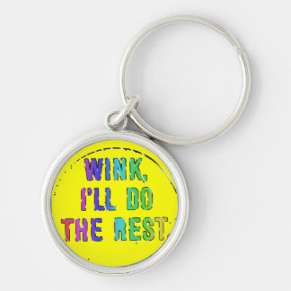 It Don't Hurt to Flirt! Silver-Colored Round Key Ring