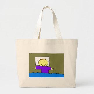 it drinks sleeping large tote bag