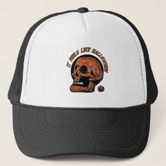 It Feels Like Halloween- Mini Pumpkin Trucker Hat
