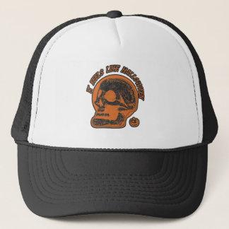 It Feels Like Halloween Negative Look Trucker Hat