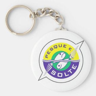 It fishes and It frees Basic Round Button Key Ring