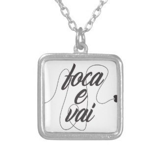it focuses and it goes silver plated necklace