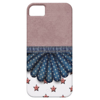 IT FOUNDS HOUSING CASE IPHONE 5 JEANS STAR BARELY THERE iPhone 5 CASE