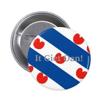 It Giet Oan! Fryslan Flag Button