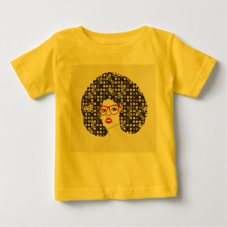 IT girl with sensual red lips and techie afro Baby T-Shirt