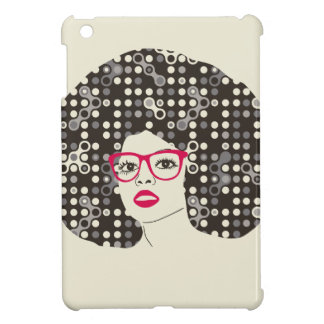 IT girl with sensual red lips and techie afro iPad Mini Cover