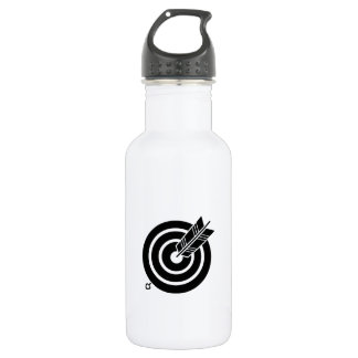 It hits against circularly, the arrow 532 ml water bottle