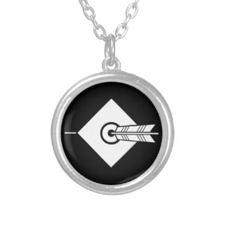 It hits against the mark, the arrow silver plated necklace