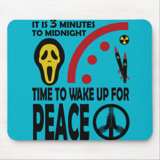 It is 3 minutes to midnight mouse pad