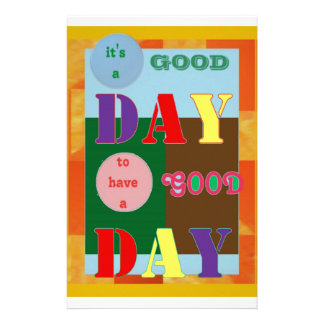 IT is a GOOD DAY to have a Good Day Personalised Stationery