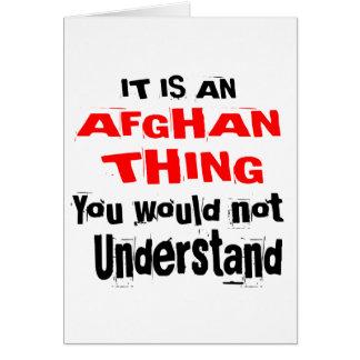It Is AFGHAN Thing Designs Card