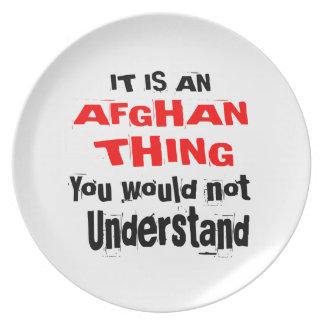 It Is AFGHAN Thing Designs Plate