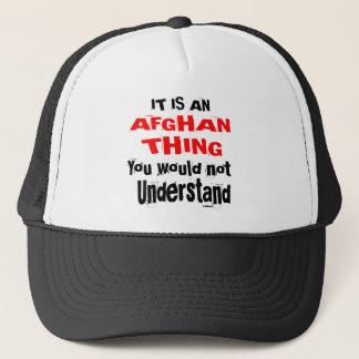 It Is AFGHAN Thing Designs Trucker Hat