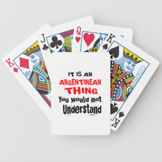 IT IS ARGENTINEAN THING DESIGNS BICYCLE PLAYING CARDS