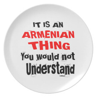 IT IS ARMENIAN THING DESIGNS PLATE