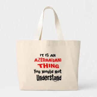 IT IS AZERBAIJANI THING DESIGNS LARGE TOTE BAG