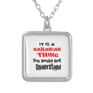 IT IS BAHAMIAN THING DESIGNS SILVER PLATED NECKLACE