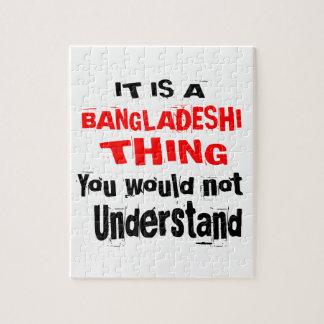 IT IS BANGLADESHI THING DESIGNS JIGSAW PUZZLE