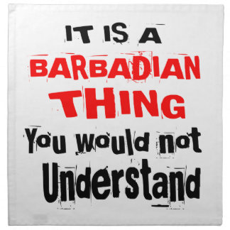 IT IS BARBADIAN THING DESIGNS NAPKIN