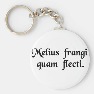 It is better to break than to bend. key chain