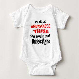IT IS BHUTANESE THING DESIGNS BABY BODYSUIT