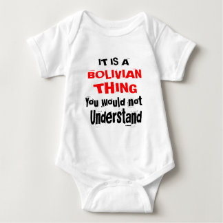 IT IS BOLIVIAN THING DESIGNS BABY BODYSUIT