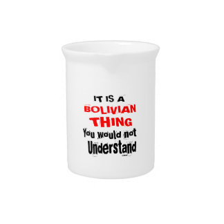 IT IS BOLIVIAN THING DESIGNS PITCHER