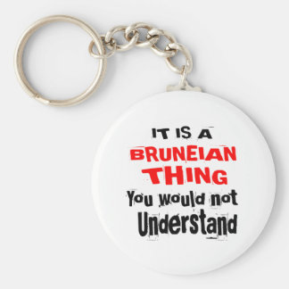 IT IS BRUNEIAN THING DESIGNS KEY RING