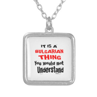 IT IS BULGARIAN THING DESIGNS SILVER PLATED NECKLACE