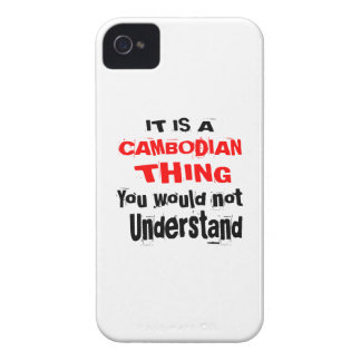 IT IS CAMBODIAN THING DESIGNS Case-Mate iPhone 4 CASES
