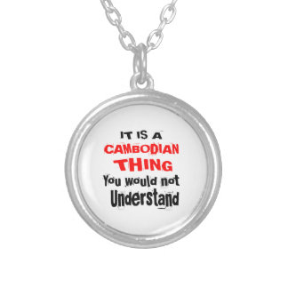 IT IS CAMBODIAN THING DESIGNS SILVER PLATED NECKLACE