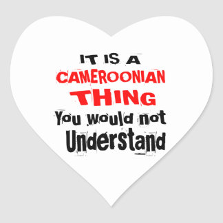 IT IS CAMEROONIAN THING DESIGNS HEART STICKER