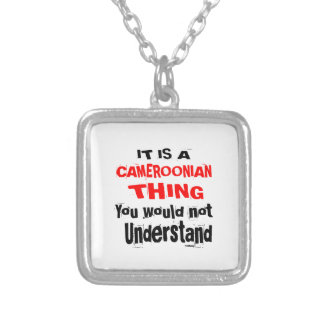 IT IS CAMEROONIAN THING DESIGNS SILVER PLATED NECKLACE