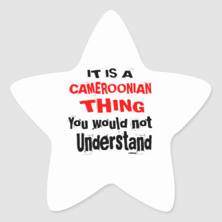 IT IS CAMEROONIAN THING DESIGNS STAR STICKER