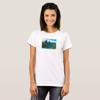 It is clear flow of paine T-Shirt
