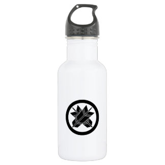 It is different to the circle, the arrow 532 ml water bottle
