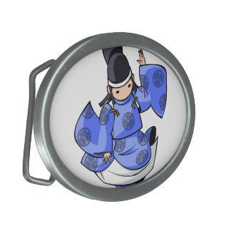 It is difficult a u English story Nikko Toshogu Oval Belt Buckle