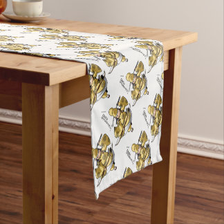 It is difficult a u English story Nikko Toshogu Short Table Runner