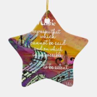 It is difficult to hide the music emotions ceramic ornament