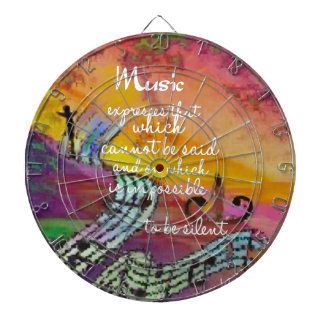 It is difficult to hide the music emotions dartboard