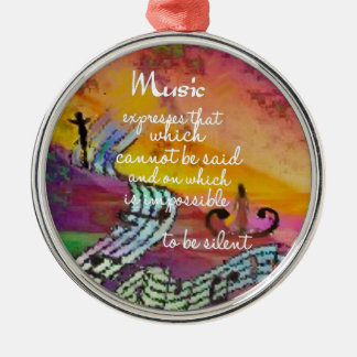 It is difficult to hide the music emotions metal ornament