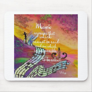 It is difficult to hide the music emotions mouse pad