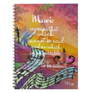 It is difficult to hide the music emotions spiral notebook