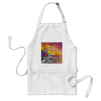 It is difficult to hide the music emotions standard apron