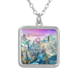 It is difficult to understand everything silver plated necklace