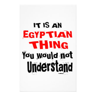 IT IS EGYPTIAN THING DESIGNS STATIONERY