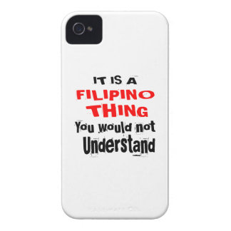 IT IS FILIPINO THING DESIGNS iPhone 4 CASE