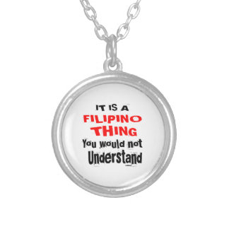 IT IS FILIPINO THING DESIGNS SILVER PLATED NECKLACE
