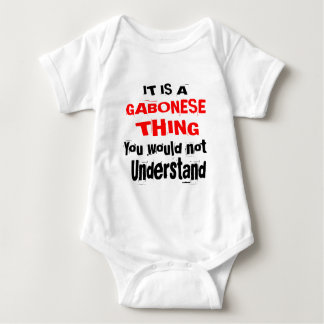 IT IS GABONESE THING DESIGNS BABY BODYSUIT