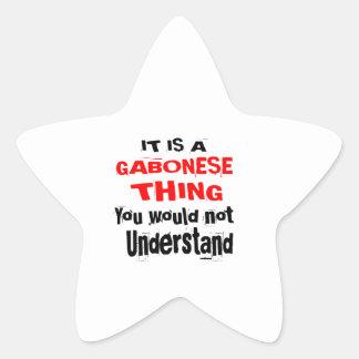 IT IS GABONESE THING DESIGNS STAR STICKER